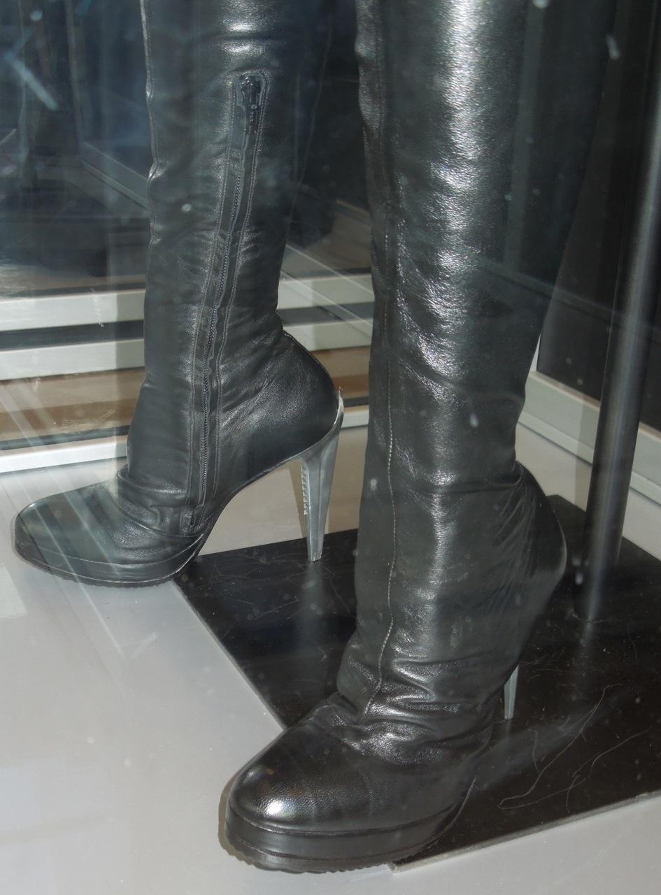 Killer metal heels on wooden floor 10