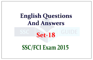 Practice English Vocabulary Questions and Answer for SSC/FCI Exam