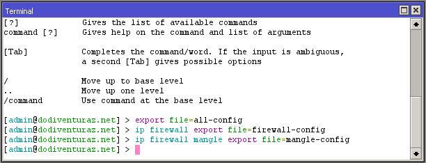 Cara Export Konfigurasi Router Mikrotik