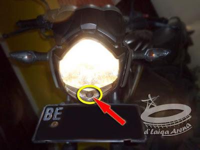 Mengganti Bohlam Lampu Senja Yamaha V-ixion (FZ150i v2)