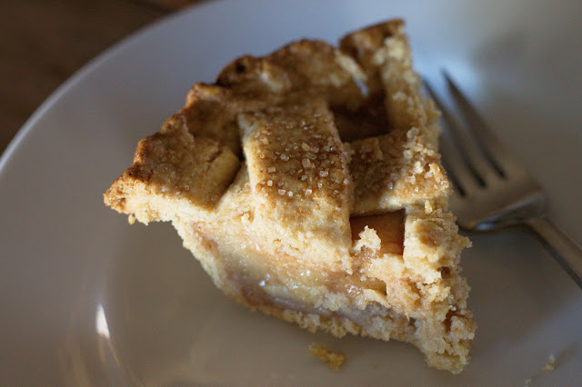 slice of 7-inch whole wheat apple pie