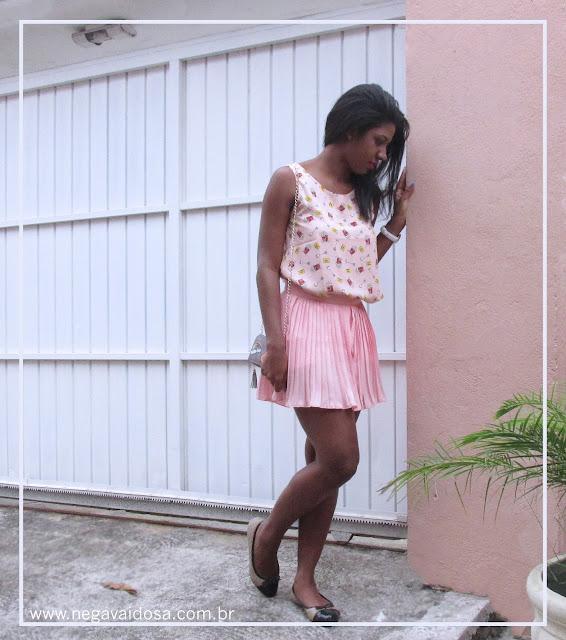 Foto com look 2 : look do dia todo rosa #outubrorosa