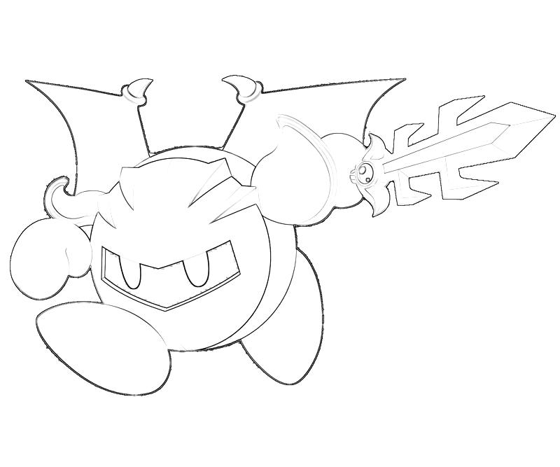 meta knight coloring pages | Coloring Pages