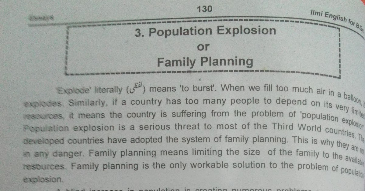 essay on population explosion in english