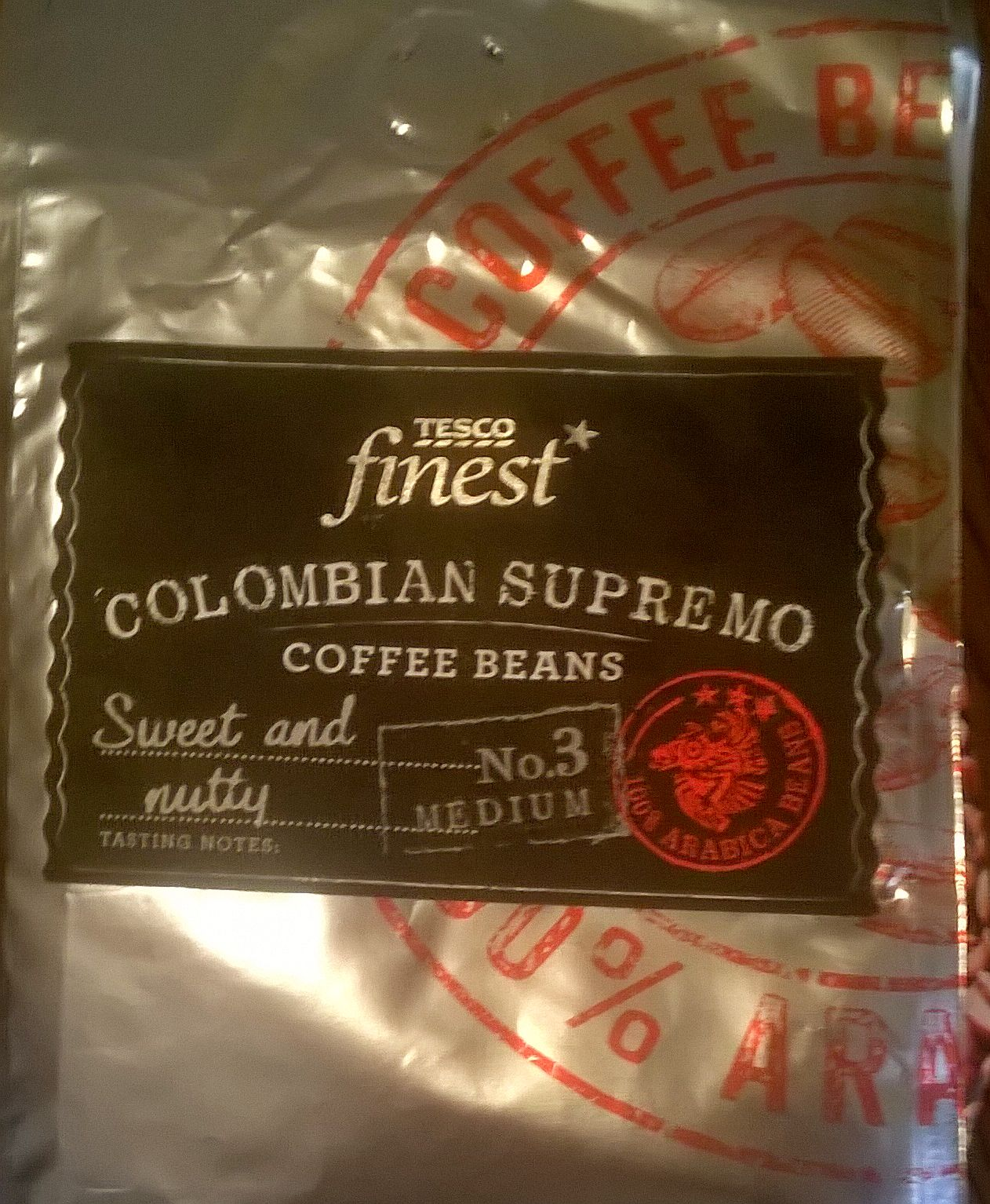 Smell The Tea And Coffee Tesco Finest Colombian Supremo