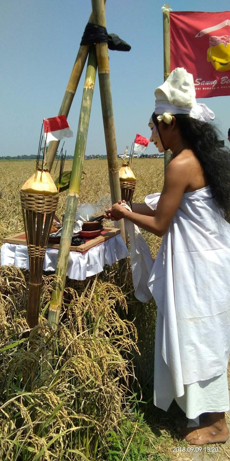 upacara adat nyalin ngala indung pare di karawang
