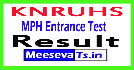 KNRUHS MPH Entrance Test Results 2017