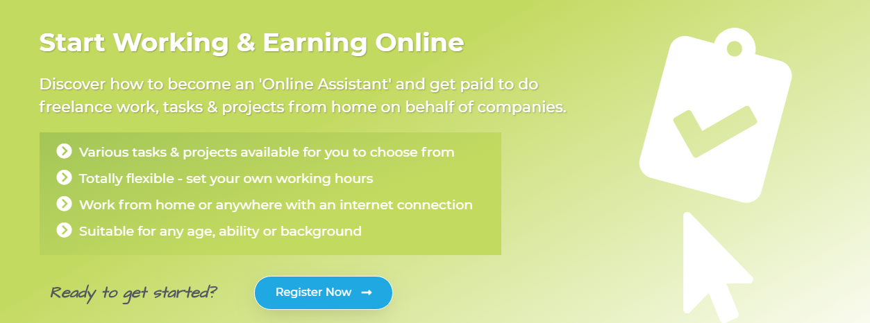 Start Working & Earning Online