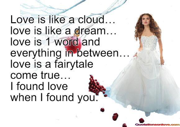 Love is like a cloud