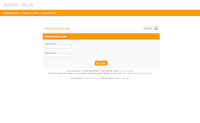 Free osCommerce 2.3.3 Admin Template Clean Orange Style
