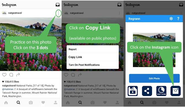 Cara Repost Foto dan Video Instagram Menggunakan Caption Asli