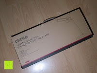 Verpackung: CRECO 7W LED Tischlampe 5 Helligkeitsstufen 3 Modi dimmbar 270° drehbar Schreibtischlampe Schwarz [Energieklasse A+]