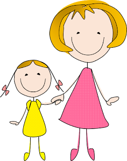 Mother and Daughter Clipart Free