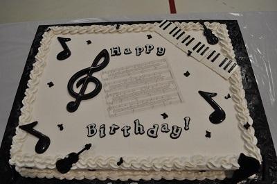Happy Birthday Musical Cake Image