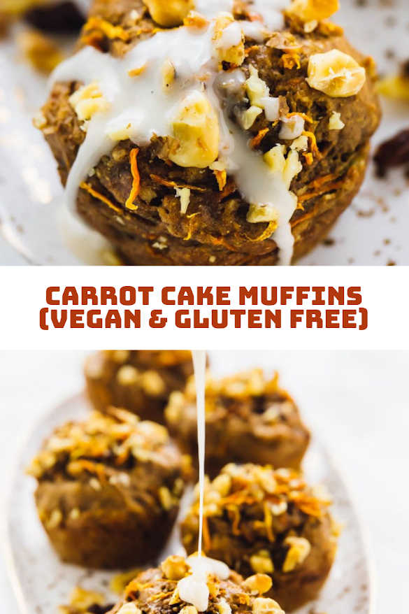 Carrot Cake Muffins (Vegan & Gluten Free)