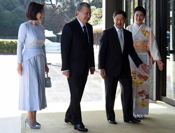 Empress Masako welcomed President Shavkat Mirziyoyev and his spouse Ziroat Mirziyoyeva at Imperial Palace