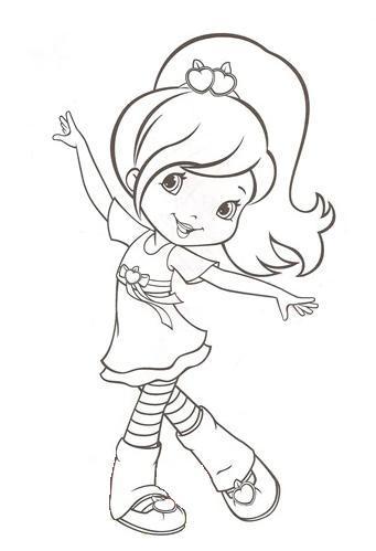 Bibi Leitura : Desenhos para colorir da Moranguinho jovem.