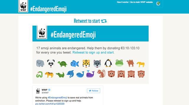 WWF Endangered Emojis campaign