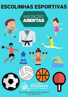 Prefeitura de Registro-SP abre vagas para Escolinhas Esportivas