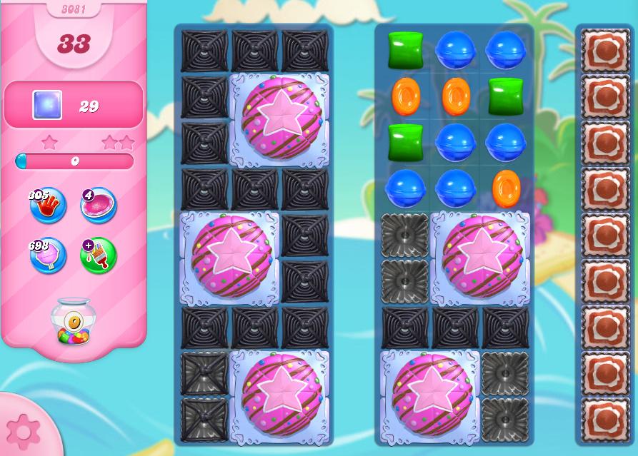Candy Crush Saga level 3081