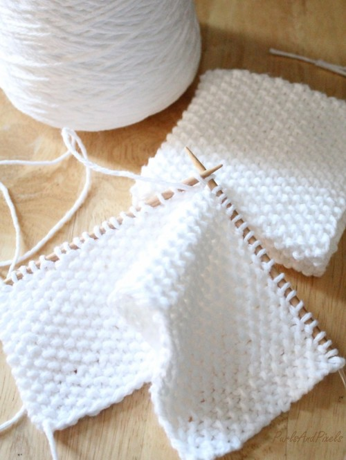 Seed Stitch Washcloth - Free Pattern