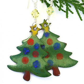 christmas tree earrings gift for women