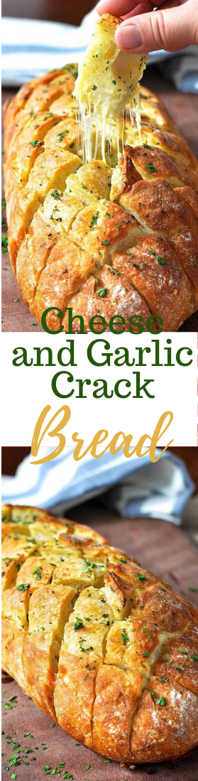 Cheese and Garlic Crack Bread #partyfood
