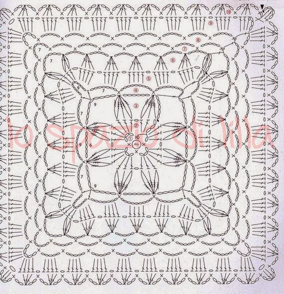 Lo spazio di lilla piastrelle crochet giganti per coperte schemi large crochet squares for - Piastrelle all uncinetto schemi ...