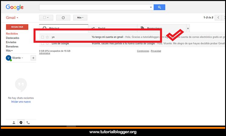 mi primer electrónico en gmail