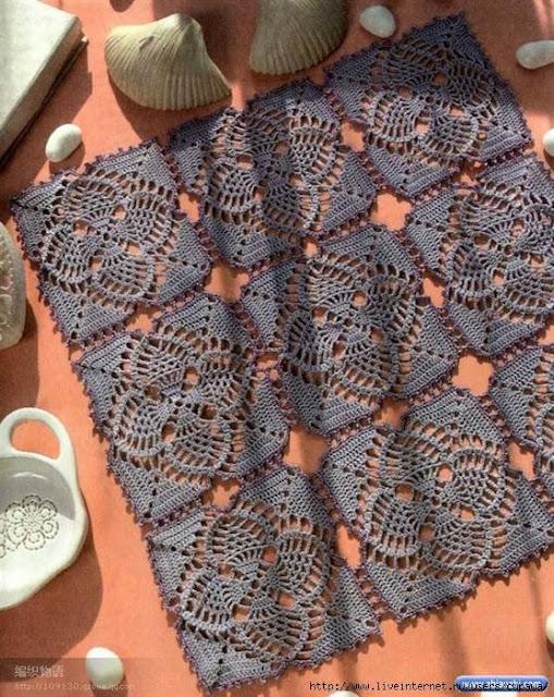 wzory serwetek szydelkiem