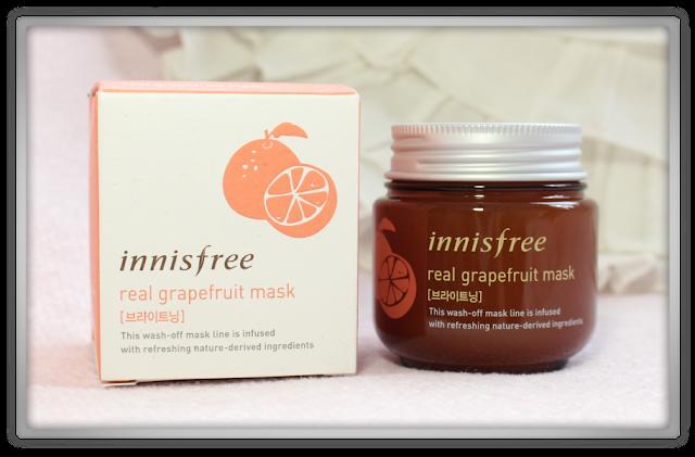 Innisfree Real Grapefruit Mask Review haul korean k beauty blog blogger skincare 이니스프리 리얼 자몽 마스크 화장품 리뷰 스킨케어
