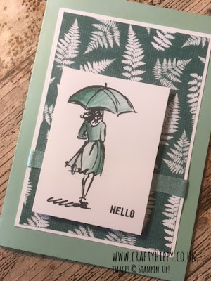 This picture shows a Mint Macaron and Tranquil Tide handmade card created using the Beautiful You stamp set by Stampin' Up!