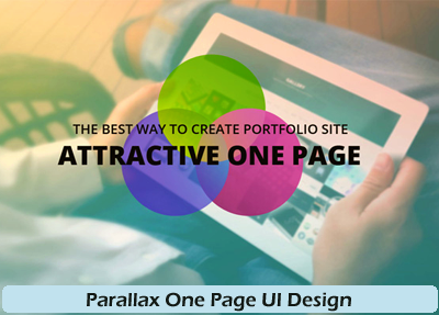 Parallax One Page UI Design