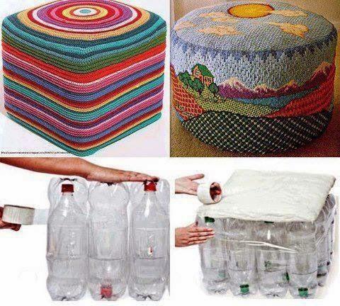 DIY Σκαμπώ από Πλαστικά Μπουκάλια