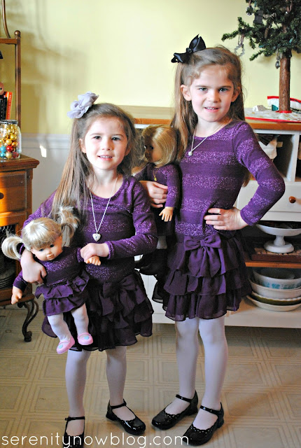 Wear Matching Dresses to an American Girl Birthday Party! (from Serenity Now)