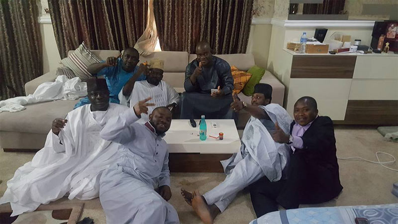 Gov Yahaya Bello celebrates with friends as Supreme Court affirms victory