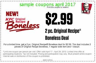 Kfc coupons april 2017