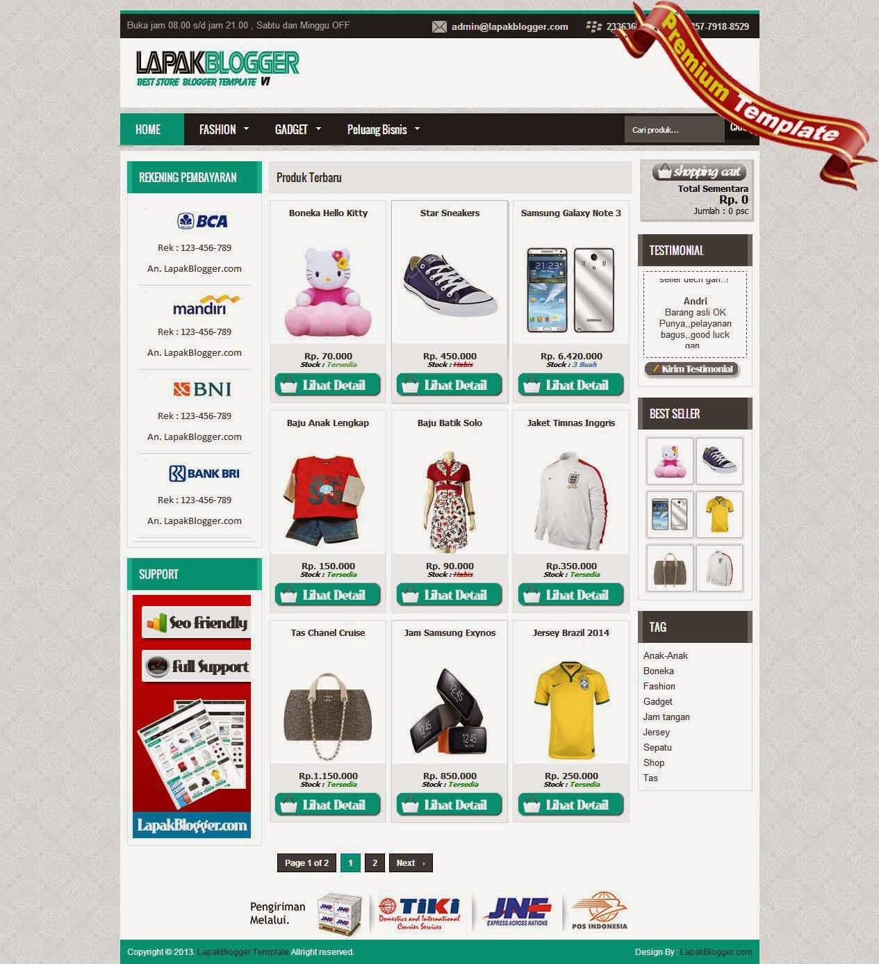 lapakblogger -premium template blogspot