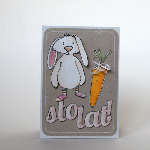 hand made rabbit,  marchewka, sto lat