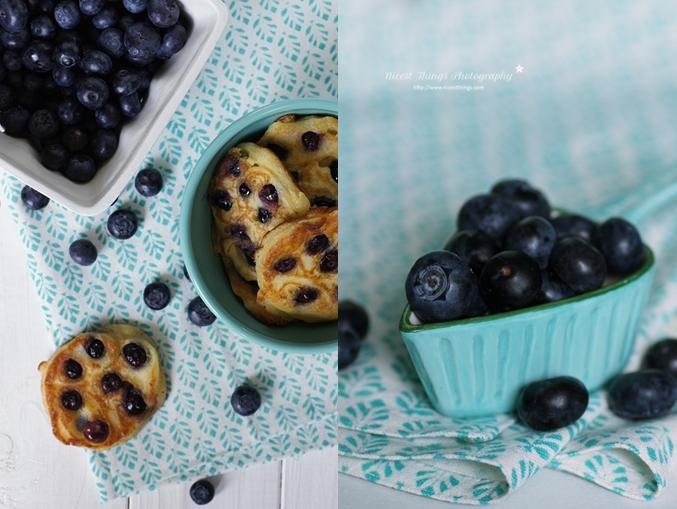 Blaubeer Pfannkuchen mit Ricotta