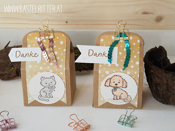 Pretty Kitty Bella and Friends Bakers Box Stampin up Bastelritter