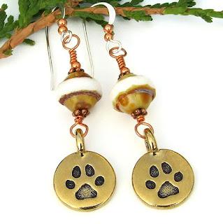 dog rescue earrings for women