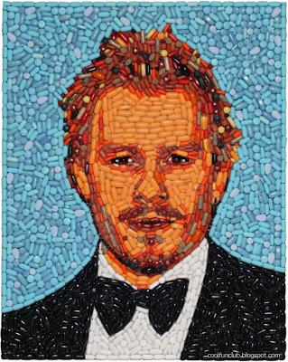 Arte creativo con rostro de famoso