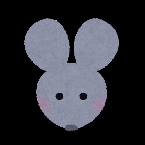 ネズミの顔のイラスト かわいいフリー素材集 いらすとや