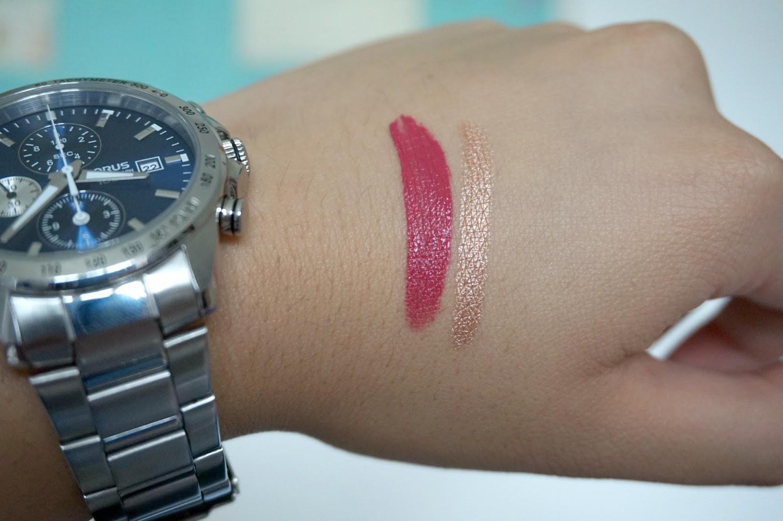 makeup, nyx eye crayon, lipstick