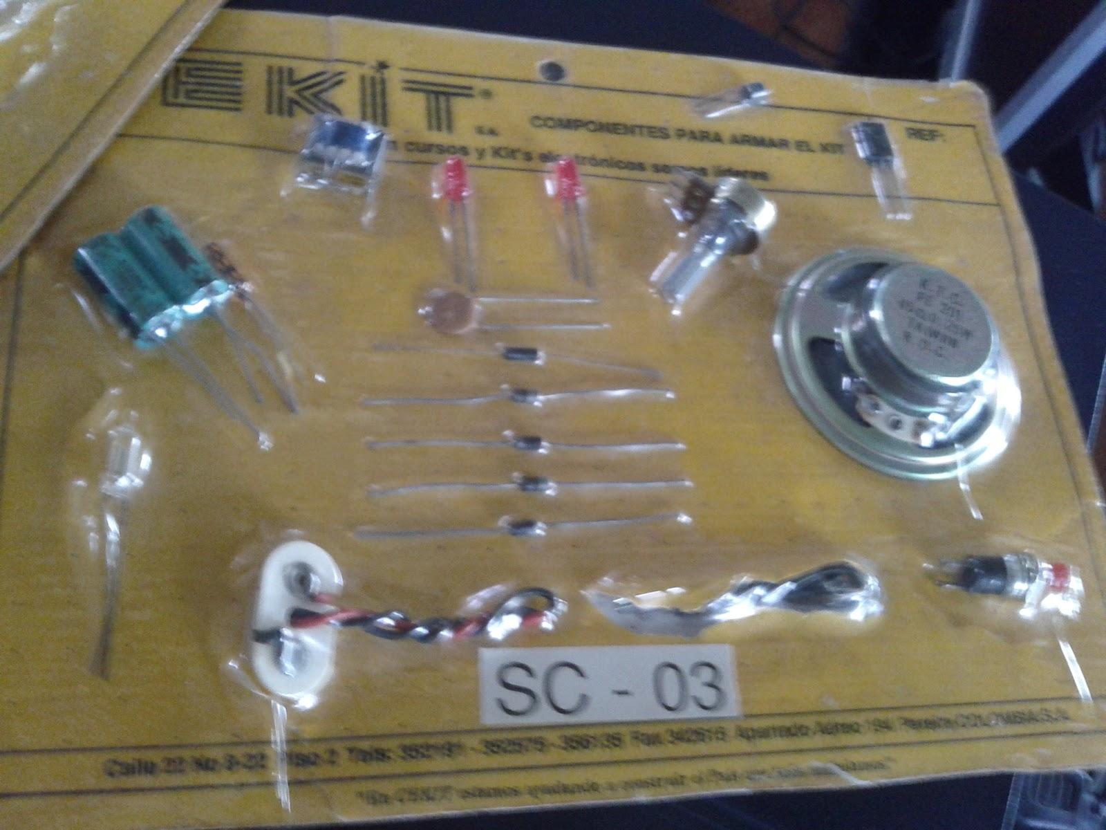 Kit de componentes electrónicos de la cekit SC-03