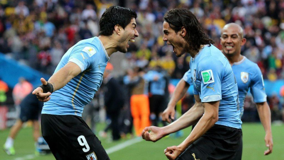 Uruguay's strikeforce of Luis Suarez and Edinson Cavani