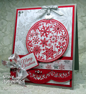 Stamps - Our Daily Bread Designs Christmas Pattern Ornaments, ODBD Custom Circle Ornaments Die, Christmas Paper Collection 2013, ODBD Custom Recipe Card and Tags Die