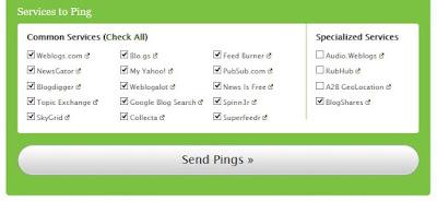 Ping Blog Gratis Pingomatic