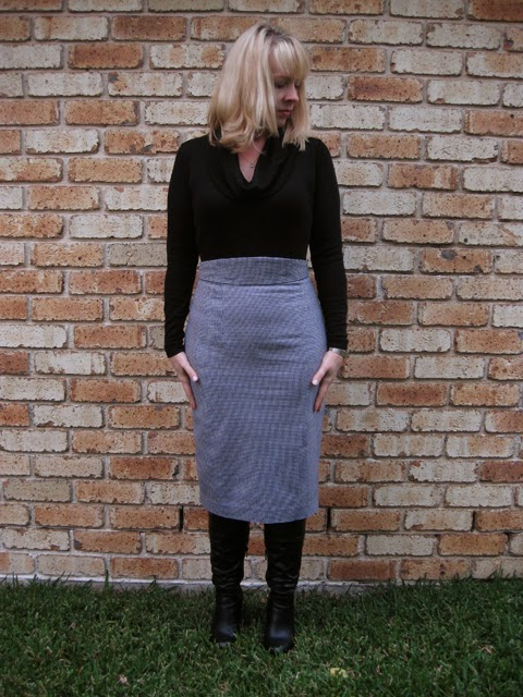 Houndstooth Pencil Skirt from Gertie's New Book for Better Sewing
